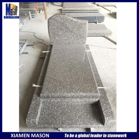 Simple Doucine Tombstone Polished Granite Kinawa