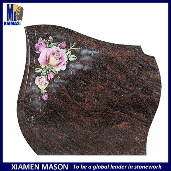 Flower Carving Granite Headstone Types