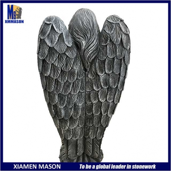Wholesale Gray Color Angel Statue